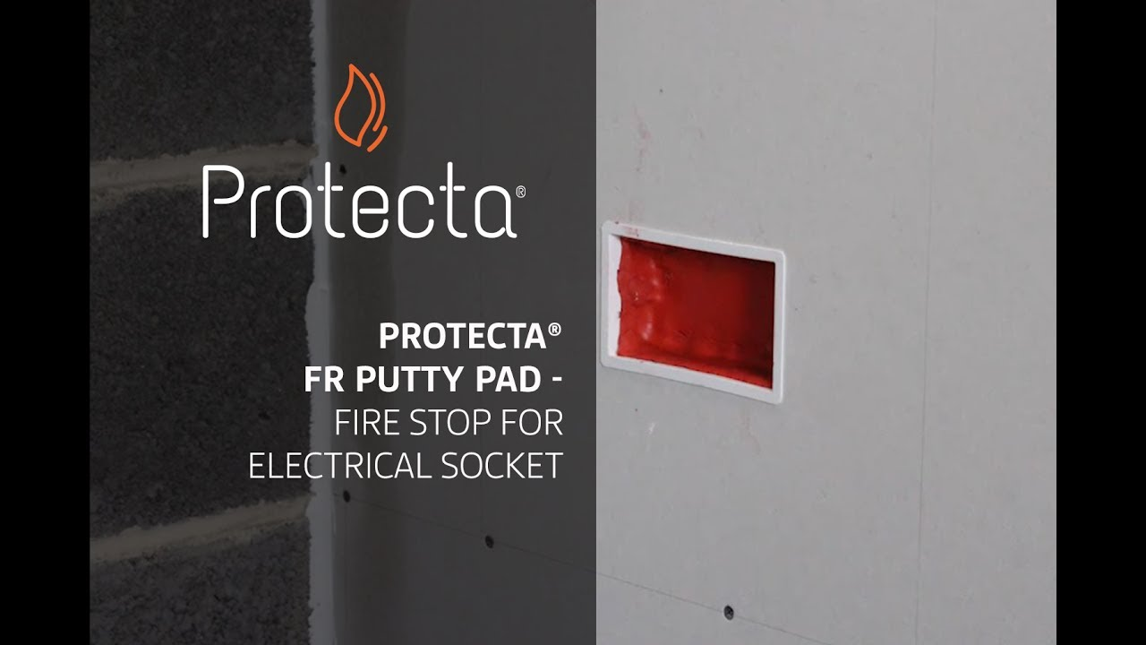 65a598de22be Protecta FR Putty Pad - Fire stop for electrical socket - YouTube