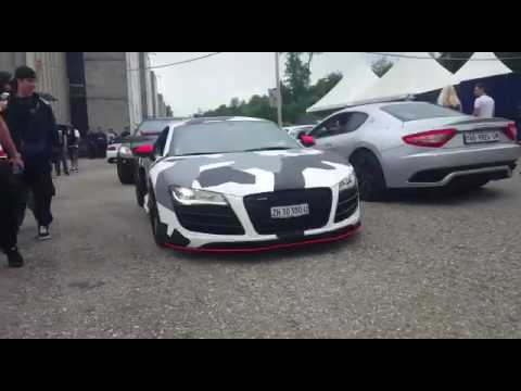 Military Camouflage R8 V10 Capristo Exhaust LOUD!