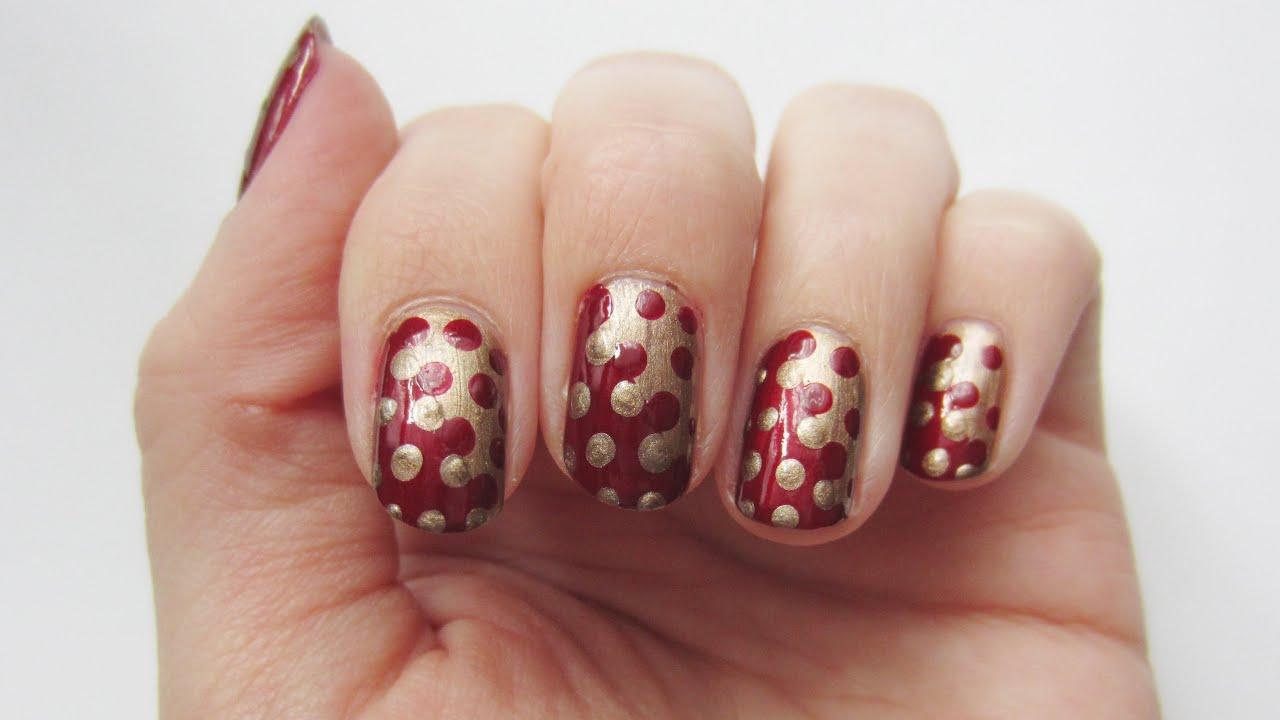Nageldesign verzahnte Punkte interlocking dot nails   \'seni ...