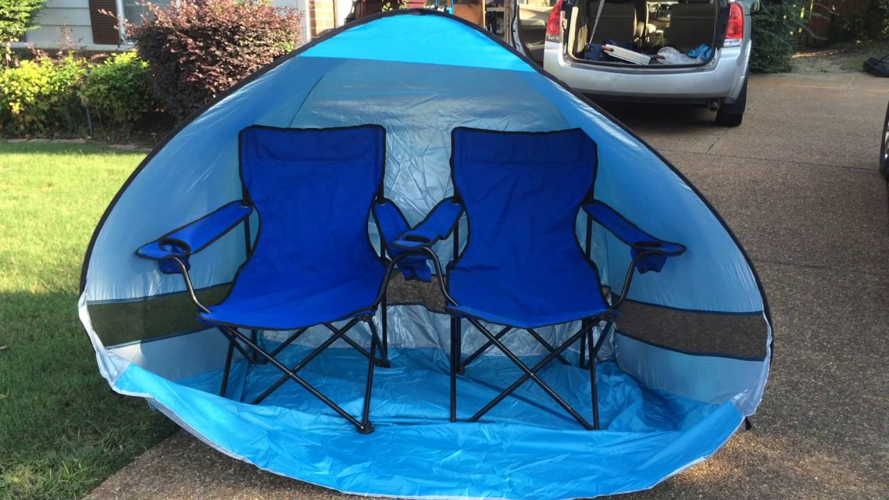 Pop up shade tent - good solution for park and outdoor fun! & Pop up shade tent - good solution for park and outdoor fun! - YouTube