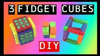 HOW TO MAKE 3 NEW DIY FIDGET CUBES - DIY FIDGET TOYS - FIDGET TOYS FOR SCHOOL - EASY- CHEAP- TOP