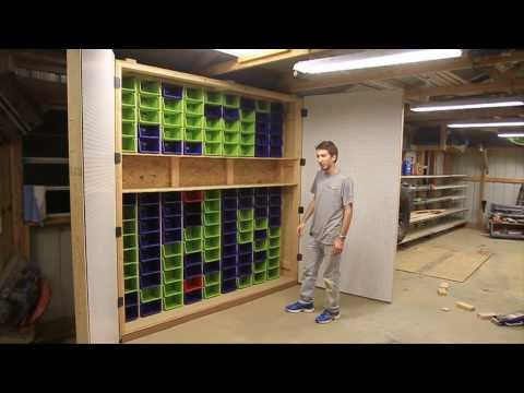 How-To Make the Largest Garage Peg Board and Bin Cabinet in the Universe!