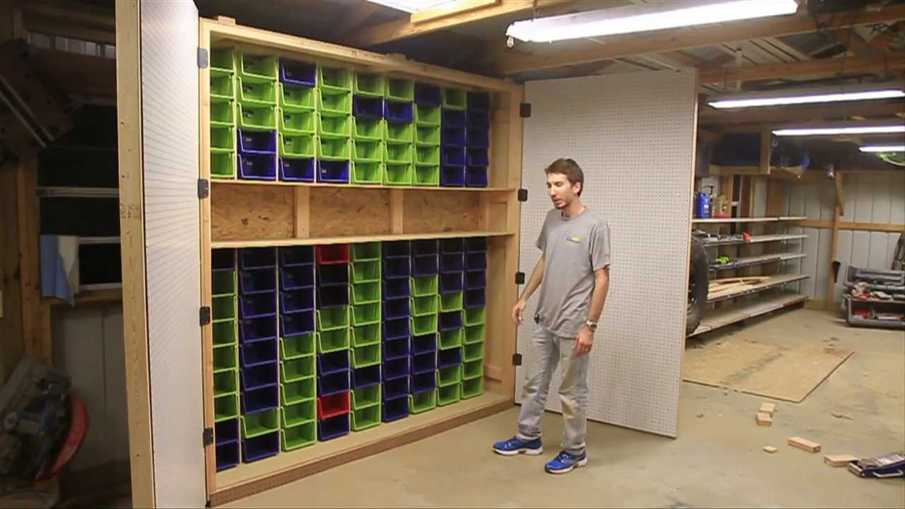 How To Make The Largest Garage Peg Board And Bin Cabinet