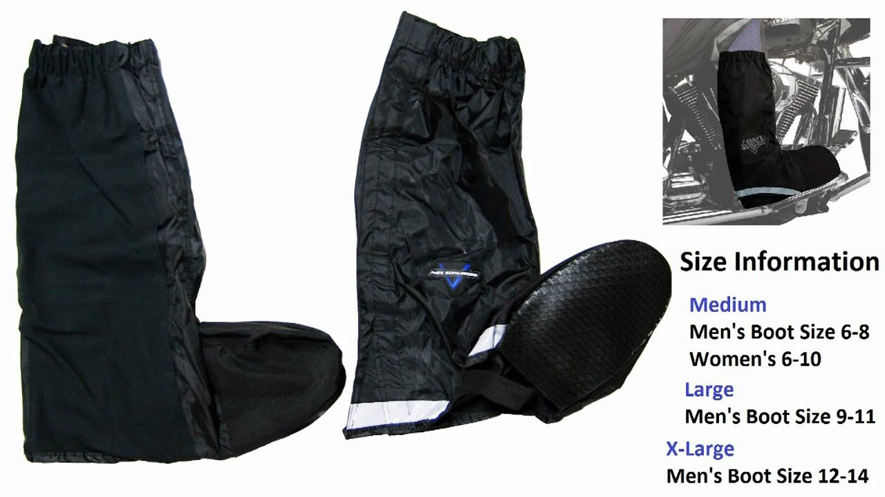 www.motogads.com - Waterproof Boot Cover - YouTube