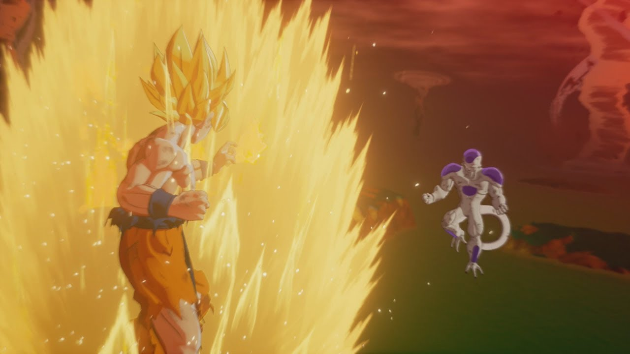 Dragon Ball Z: Kakarot - Super Saiyan Goku vs Frieza ...