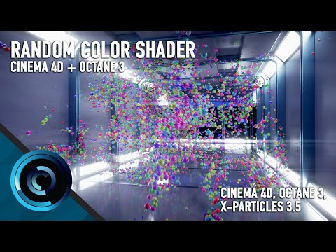 Random Color Shader Octane 3 for Cinema 4D