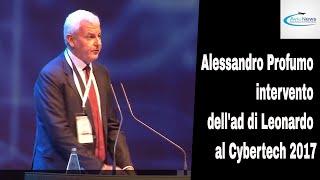 Alessandro Profumo intervento dell'ad di Leonardo al Cybertech 2017