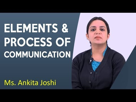 Elements & Process Of Communication Lecture By Ms. Ankita Joshi | MJMC