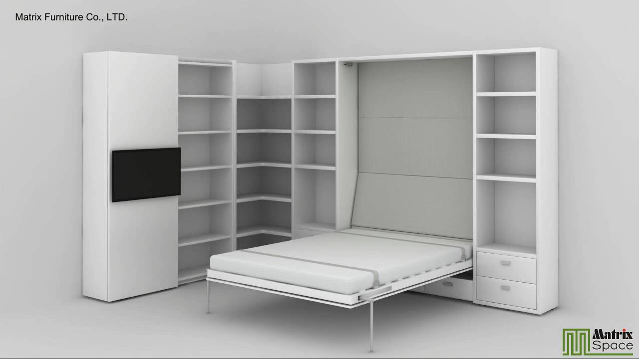 Space Efficient Bedroom Furniture: Matrix Space Wall Bed, Murphy Bed, Space Saving Furniture