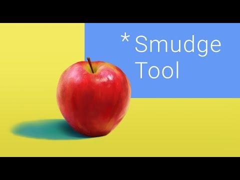 Смешивание цветов в фотошопе: Smudge Tool