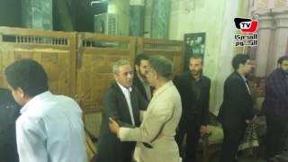 خالد علي وسيد رجب وأشرف زكي في عزاء شقيق «صبري فواز»