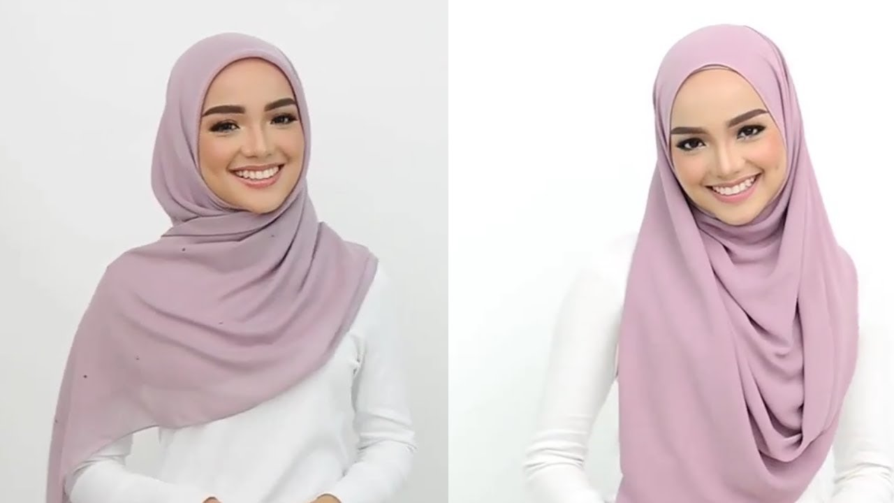 جديد لفات الحجاب لهذه السنة New Tutorial Hijab 2019 Youtube