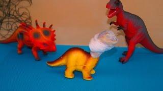 Динозаври. Мультик про сліпого дінозавра. Відео іграшки
