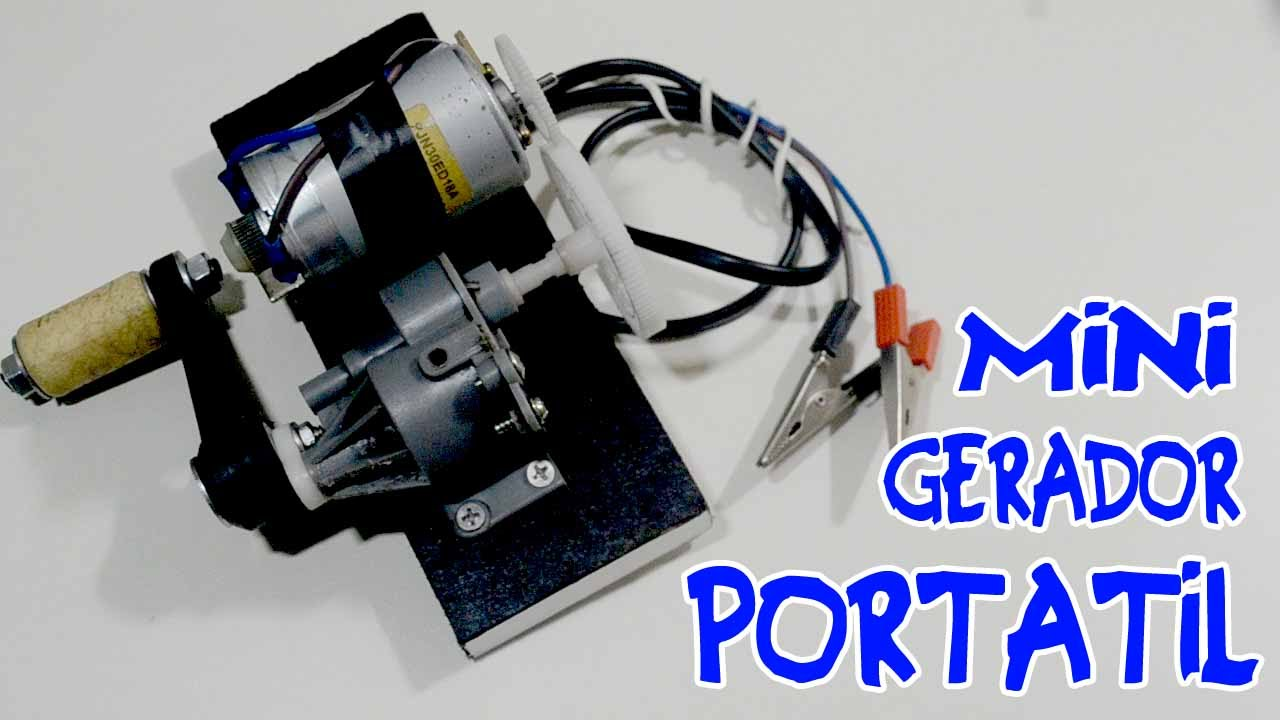 cc396c3bbaa Mini gerador de energia portátil! - Como fazer! - YouTube