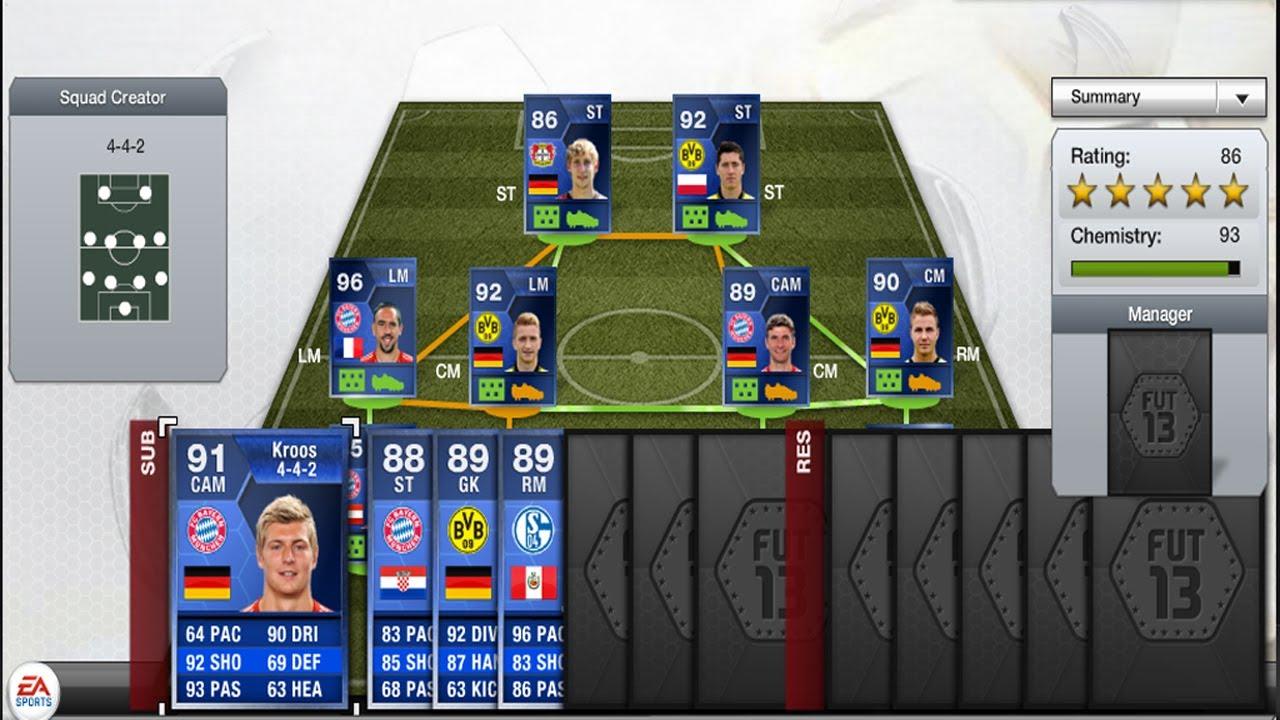 FIFA 13 Bundesliga Team Of The Season TOTS Prediction ...  Fifa 13 Team Of The Season