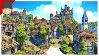 BUILDING A HUGE CASTLE! - Foundation Gameplay (Medieval City Builder)