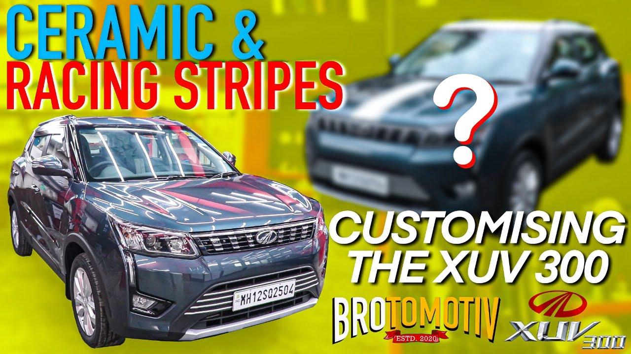 Check out the Custom Racing Stripes on this XUV 300 | Hindi | Brotomotiv
