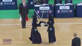 #41 Women's Team Preliminary Heats: Japan vs. Portugal - 17th World Kendo Championships (2018)