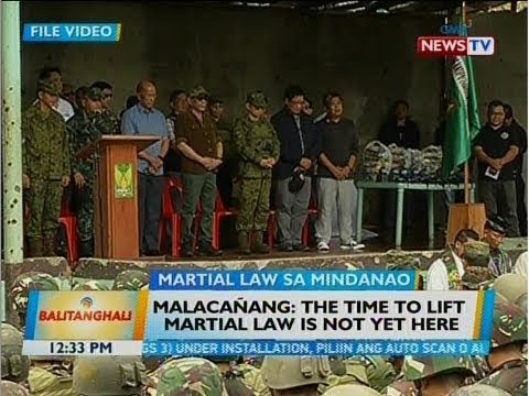 BT: Malacañang: The time to lift martial law is not yet here