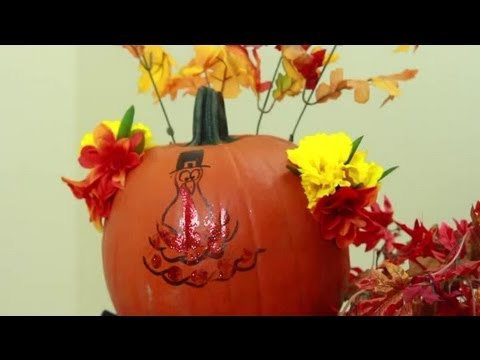 Ideas to decorate a pumpkin for thanksgiving pumpkin for How to decorate a pumpkin for thanksgiving