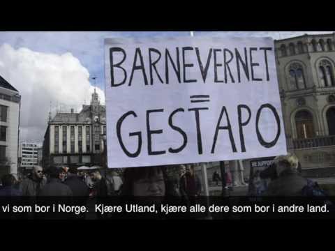 Protest against Barnevern 16 04 2016 in Oslo, video 5 med norsk teksting