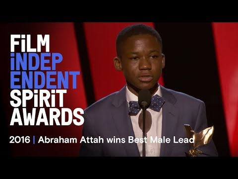 Abraham Attah wins Best Male Lead at the 2016 Film Independent Spirit Awards