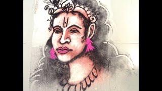 how to draw lord shree krishna in rangoli - K92