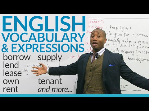 Speaking English – How to talk about borrowing, lending, and property