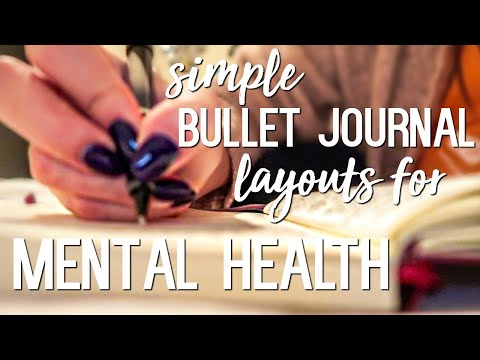 6 Easy Minimalist Bullet Journal Layouts for Mental Health!