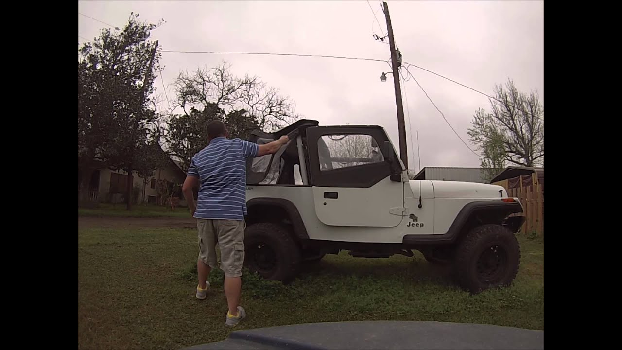 hight resolution of fast how to remove jeep wrangler yj soft top under 3 minutes