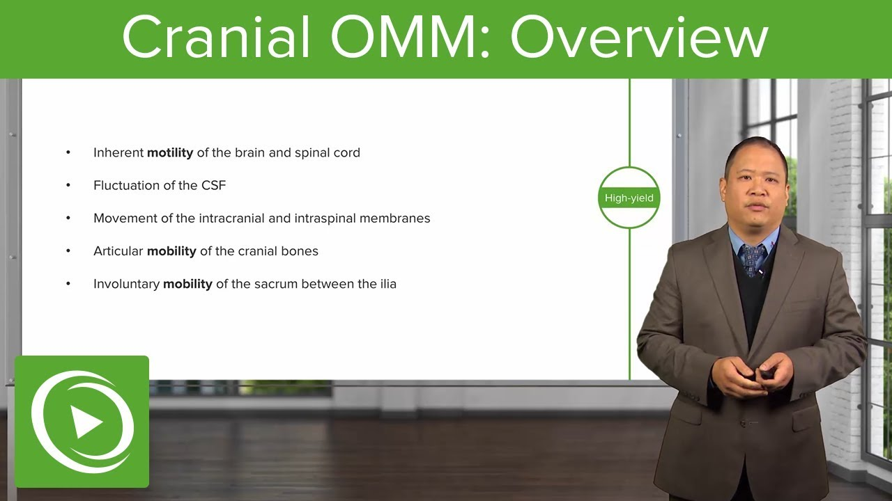 Cranial Osteopathic Manipulative Medicine: Overview – OMM | Lecturio