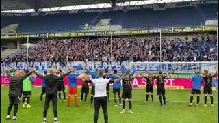 MSV Duisburg vs. SV Meppen - Meppen Fans feiern den Auswärtssieg!