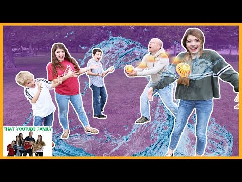 Family Fun Game Night SPLASH OUT Don't Get Soaked! / That YouTub3 Family