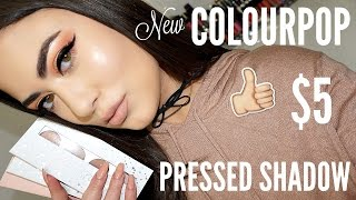 NEW Colourpop PRESSED POWDER Eyeshadows! Review & Swatches