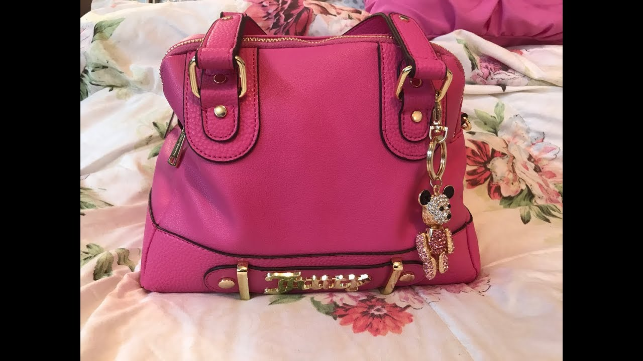 81e123b538 Happy Mother's Day 2018 What's in my Juicy Couture Pink Flamingo Bag ...