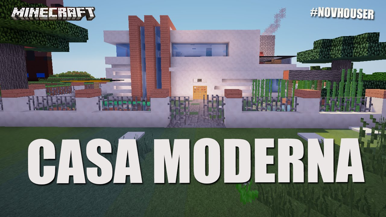 La casa moderna casas de minecraft en novhouser subs for Casa moderna gigante minecraft