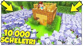 10.000 SCHELETRI ATTACCANO LA NOSTRA BASE! - Minecraft ITA