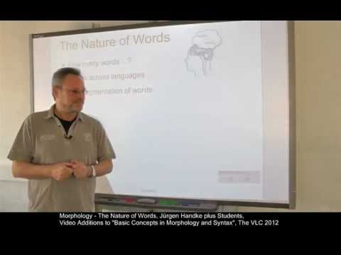 MOR101 - The Nature of Words