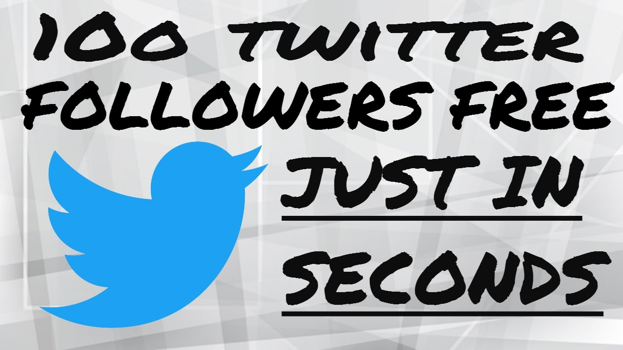 How to get 100 Twitter Followers in 1 minute for free [2017] √