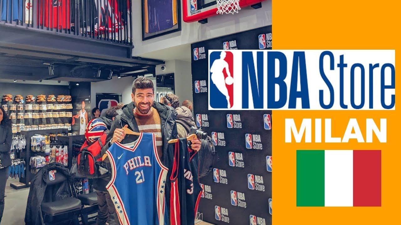 buy popular ea51c 070d3 VI PORTO DENTRO IL NUOVO NBA STORE DI MILANO - IL PRIMO IN EUROPA