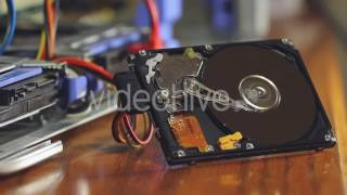 Hard Drive Parts [STOCK VIDEO]