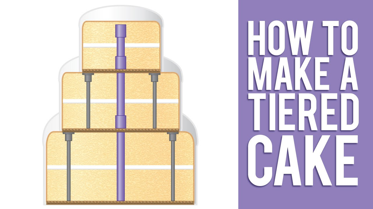 learn how to make a tiered cake youtube