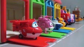 Super Wings Robot Garage Toys 슈퍼윙스 로봇 차고지 장난감