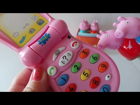 Peppa Pig Pink Kindergarten Toy The Early Learning Telephone Unboxing