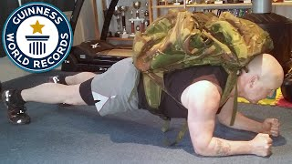 Longest Plank with a 100LB pack- Guinness World Records