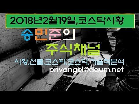 2018년2월19일,코스닥시황