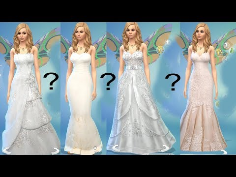 Which Wedding Dress ? Shopping Fairy SIMS 4 Game Let's Play  Video Part 53