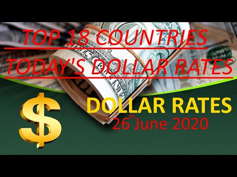Dollar Rates For Today | 26th June 2020 | USD To PKR,INR,NZD,CNY,JPY,PS,TL,SLR,etc | Hot News Studio