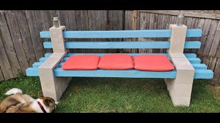 How to build a Cinder Block Bench