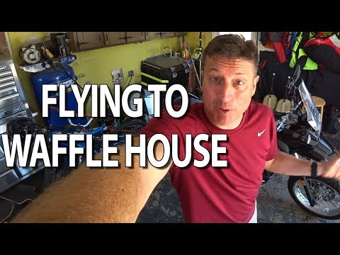 Flying To Waffle House on a Paramotor